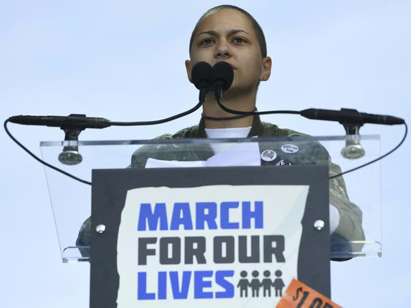 In Washington, D.C., Parkland survivor Emma Gonzalez held the stage for more than six minutes, the amount of time the gunman carried out his deadly assault on her high school.