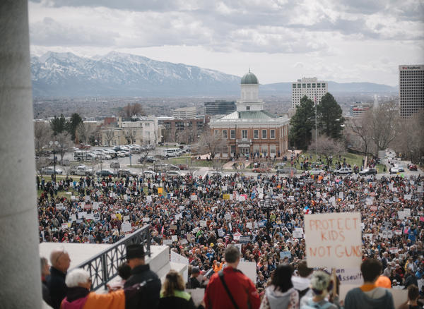 8,000 Utahns protest outside the Capitol.