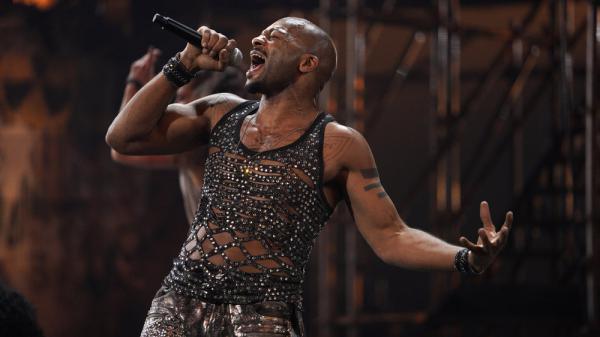 Brandon Victor Dixon as Judas in NBC's live performance of <em>Jesus Christ Superstar</em>.