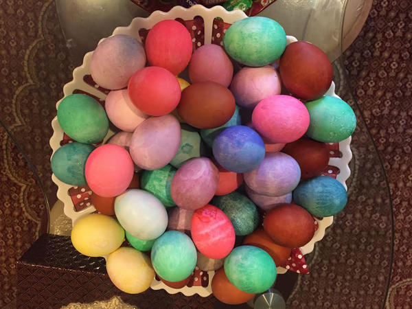 Like other spring holidays, <em>Sere Sal</em>, the Yazidi new year, is about fertility and new life. An ancient Kurdish religious minority, the Yazidis color eggs for the holiday in honor of the colors that Tawus Melek, God's chief angel, is said to have spread throughout the new world.