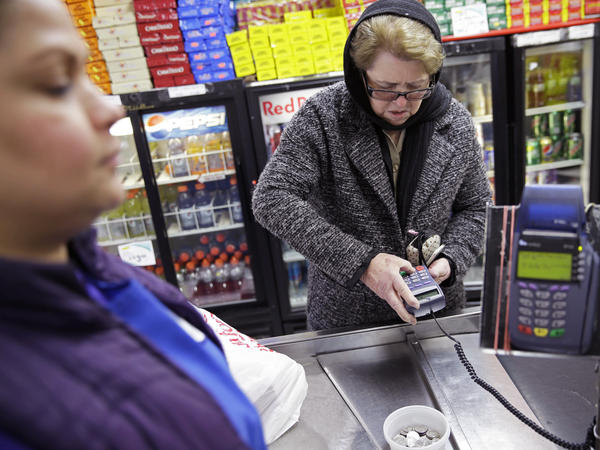 Hilda Herrera of New York state is one of 40,000 people who rely on the SNAP program for help buying groceries.