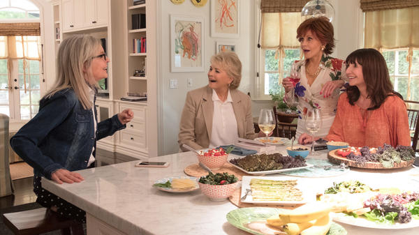 Diane Keaton (from left), Candice Bergen, Jane Fonda and Mary Steenburgen make up the high-octane cast of <em>Book Club</em>.