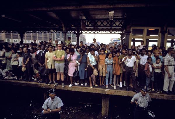 Robert Kennedy's funeral train ran through Philadelphia in 1968.