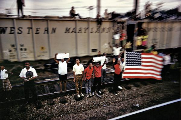 """The San Francisco Museum of Modern Art exhibition """"The Train: RFK's Last Journey"""" captures the extraordinary power and resonance of the funeral train."""