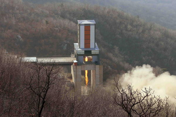 North Korea's missile stands are essentially large blocks of concrete and steel designed to hold rocket engines in place during test firing.