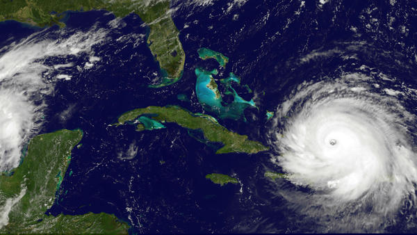 NOAA's GOES satellite shows Hurricane Irma as it moved toward the Florida Coast in the Caribbean Sea on Sept. 07, 2017. Irma was a Category 5 hurricane, and in its aftermath, some people want a Category 6.