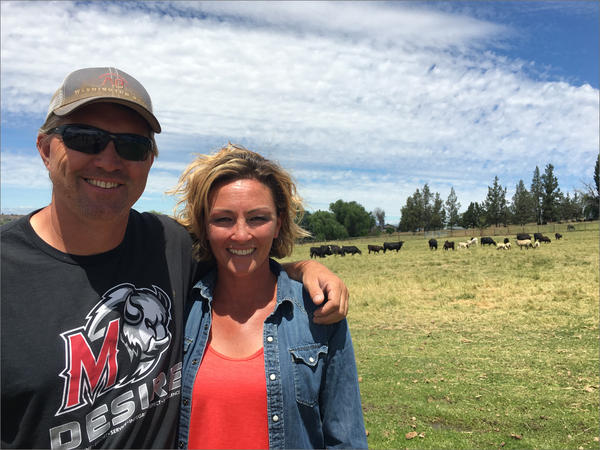 Jeremy and JoHanna Symons have run a beef operation together for 17 years outside of Madras, Oregon, where they  both grew up.