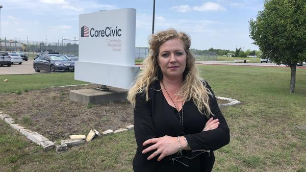 Kate Lincoln-Goldfinch is an immigration lawyer who works with clients inside the T. Don Hutto Residential Center in Taylor, Texas.