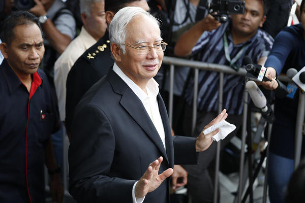 Former Malaysian Prime Minister Najib Razak, shown here in May, has been arrested over questions about corruption involving billions of dollars in a government fund.