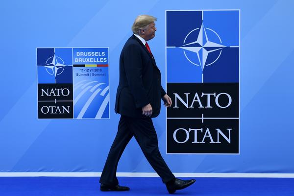 President Trump arrives at the NATO summit in Brussels. The House is scheduled to take up a measure Wednesday reaffirming U.S. support for NATO; the Senate approved a similar measure Tuesday.