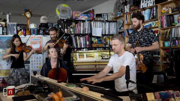 """""""The idea behind this is not to create a computer that makes music for me, it's to create an instrument that I'm playing,"""" Ólafur Arnalds says."""
