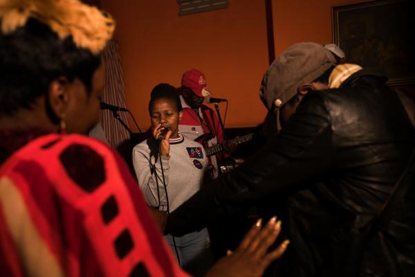 Friends Band plays a show in Bulawayo, Zimbabwe.