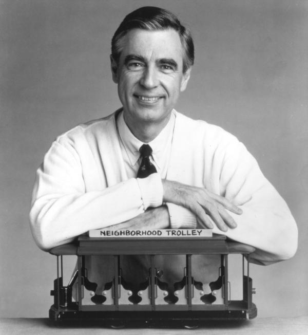 Fred Rogers of <em>Mister Rogers' Neighborhood</em> in the 1980s.