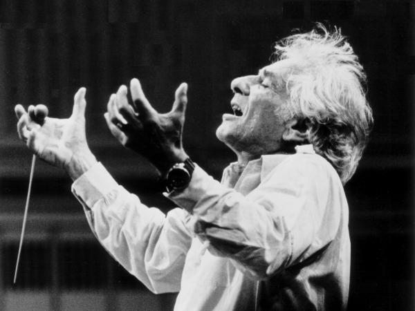 """""""Sometimes when you watch Bernstein conduct ... it's his own involvement and enthusiasm at that moment, his own kind of oneness with the work,"""" archivist Barbara Haws says."""