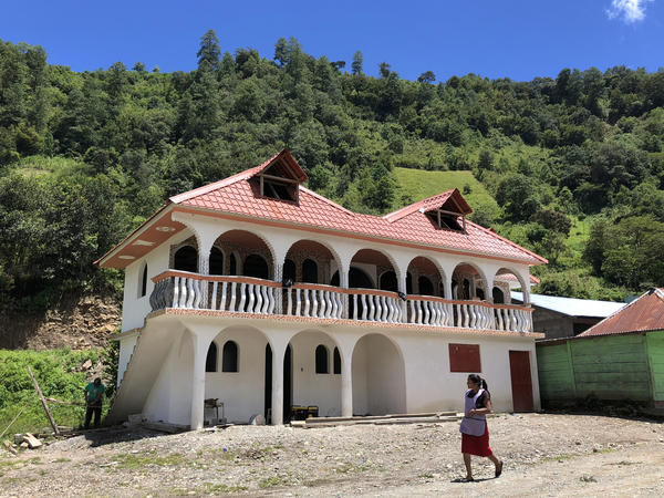 Castillos<em>, </em>or castles, in the the Guatemalan villages of Huehuetenango that were built with money earned in the United States.