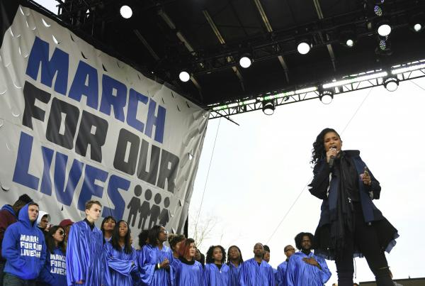 Jennifer Hudson performs during the the March for Our Lives rally in Washington, D.C. on March 24, 2018.