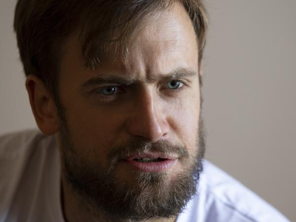 Pyotr Verzilov, a member of the feminist protest group Pussy Riot, photographed during an interview with The Associated Press in Moscow, in early September.