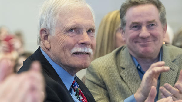 Seen here at a gala in 2017, Ted Turner spoke on <em>CBS Sunday Morning </em>about having Lewy body dementia.