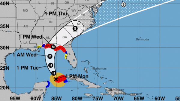 Hurricane Michael is expected to hit the Florida Panhandle on Wednesday, after strengthening in the Gulf of Mexico.