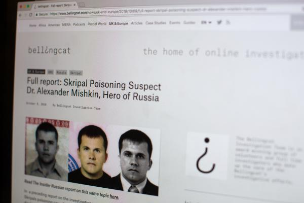 Bellingcat tracked down a second man it believes to have been involved in the poisonings through searching databases online.