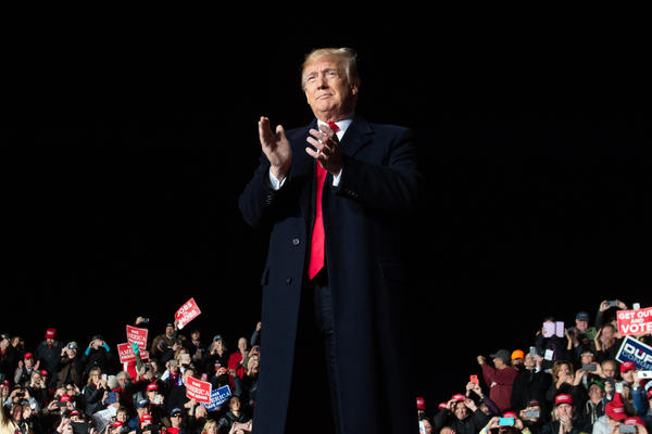 While President Trump called for unity at a campaign rally in Wisconsin on Wednesday, he has also criticized the news media.