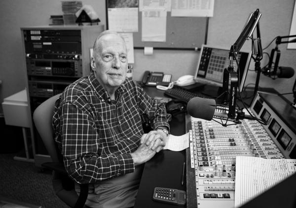 Stan Whippo, from his perch behind the mic, has entertained listeners with his classical music offerings for over twenty years.
