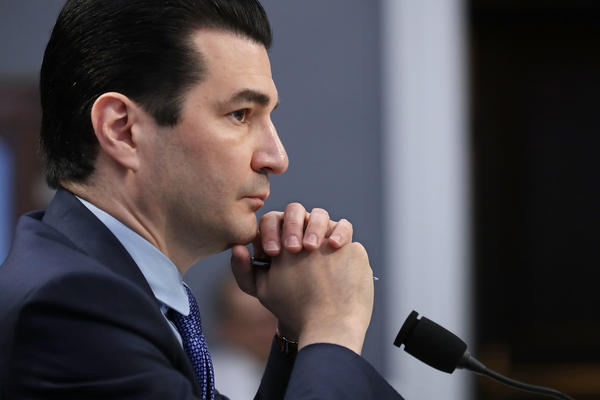 "Food and Drug Administration Commissioner Scott Gottlieb, testifying before a House subcommittee in May. There are ""very tight restrictions"" being placed on the distribution and use of Dsuvia, Gottlieb said Friday in addressing the FDA's approval of the new opioid. But critics of the FDA decision say the drug is unnecessary."