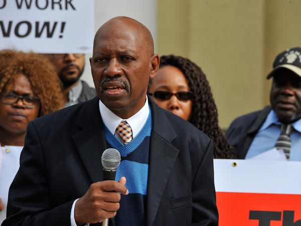 Norris Henderson speaks at a press conference for the Ban The Box coalition in 2015. He is advocating for the repeal of Louisiana's split-jury system.