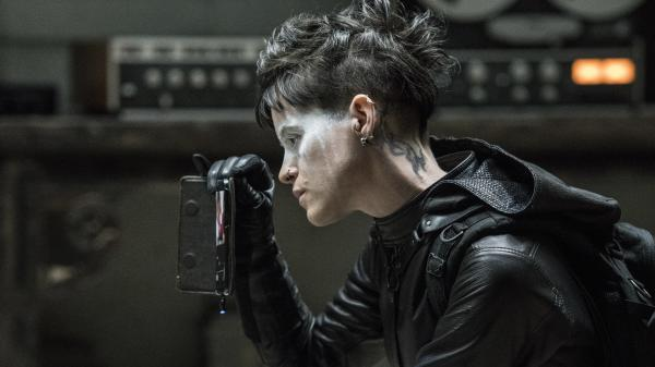 """Welcome to my pallor, said the spider to the fly"": Lisbeth Salander (Claire Foy) goes beyond the pale in <em>The Girl in the Spider's Web.</em>"
