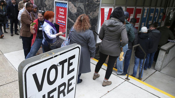 Some voters in Minneapolis took advantage of the last day of early voting on Monday.