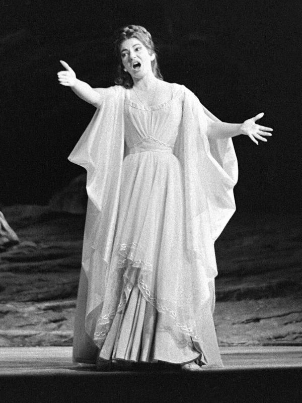 The real Maria Callas, singing the title role in Bellini's Norma, in Paris in 1964.