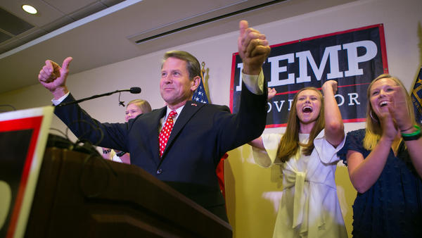 Brian Kemp, Georgia's Republican candidate for governor, seen earlier this year after winning the GOP primary.