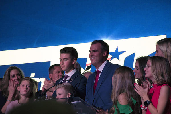 Republican businessman Kevin Stitt has been elected Oklahoma's next governor.