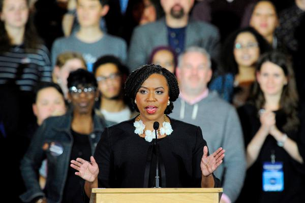 Democrat Ayanna Pressley is the first black woman Massachusetts has ever sent to Congress, and the state's first black member of the House of Representatives.