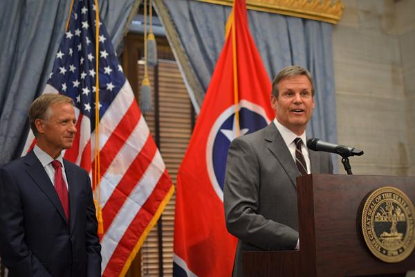 Gov.-elect Bill Lee said at a joint press conference with Gov. Bill Haslam on Wednesday that he's ready to turn now to putting together a policy agenda.