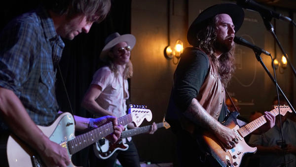 Sam Morrow and his band perform at this year's AmericanaFest Day Stage, presented by WMOT, NPR Music and World Cafe.