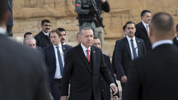 Turkey's President Tayyip Erdogan says audio recordings of Jamal Khashoggi's murder have been released to the U.S. Khashoggi was a journalist and critic of Saudi Arabia's government.