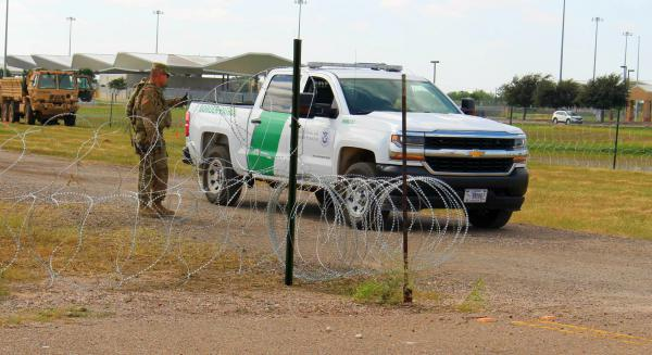 Donna, TX is the site of a military encampment for troops supporting the Border Patrol.