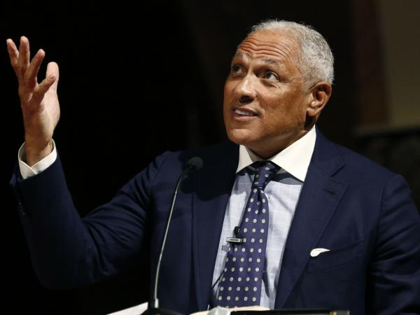 Former Democratic Rep. and Agriculture Secretary Mike Espy at a rally for his Senate campaign in Jackson, Miss., on Nov. 5. Espy is facing GOP Sen. Cindy Hyde-Smith in a Nov. 27 runoff.