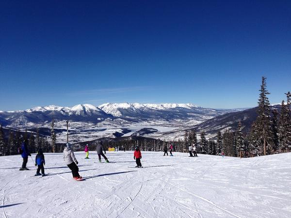 Skiers at Keystone Resort in Colorado