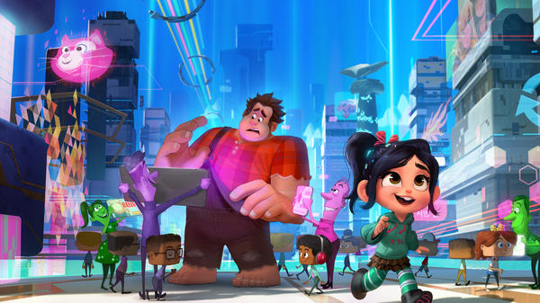 Ralph (voiced by John C. Reilly) wants things to stay the same; Vanellope (voiced by Sarah Silverman) has other plans in <em>Ralph Breaks the Internet.</em>