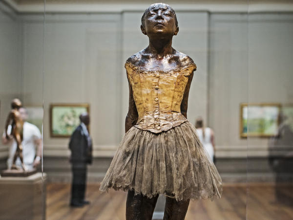 """Little Dancer,"" a sculpture by French artist Edgar Degas, is seen at the National Gallery of Art in Washington, D.C., on July 16, 2014."