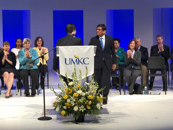UMKC Chancellor Mauli Agrawal has suspended prominent pharmacy professor after a report he exploited students for free labor.
