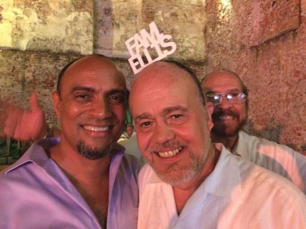 "Chip Williams (left) with his ""Mexican Ellis"" relatives, Peter Ellis Irigoyen and Billy Ellis Irigoye"
