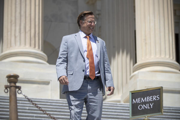Rep. Dave Brat, R-Va., in a June 2018 file photo. Brat lost his re-election bid to Democrat Abigail Spanberger. Before the election, Brat blamed the Democratic fundraising platform, ActBlue, for allowing Spanberger to raise more money than he was able to.
