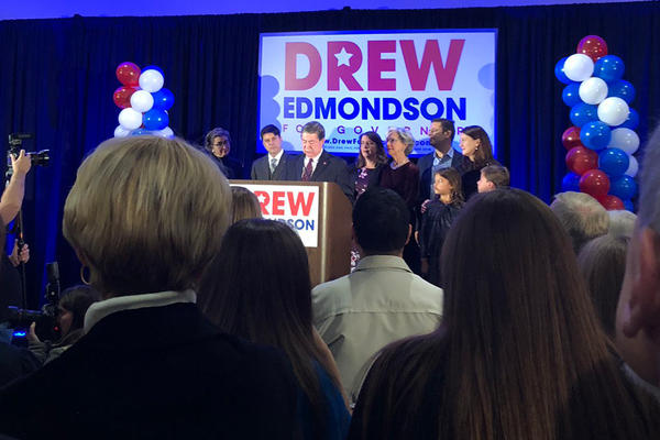 Democrat Drew Edmondson concedes his race for Oklahoma governor.