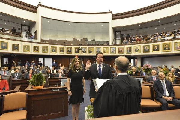 State Sen. Bill Galvano, R-Bradenton, on Tuesday was elected president of the Florida Senate for 2018-2020.