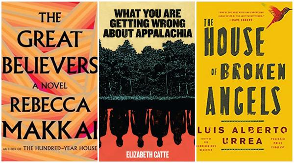Three recommended titles from our guests, Danny Caine, Amanda Nelson and Clay Smith, respectively. (Courtesy the book publishers)