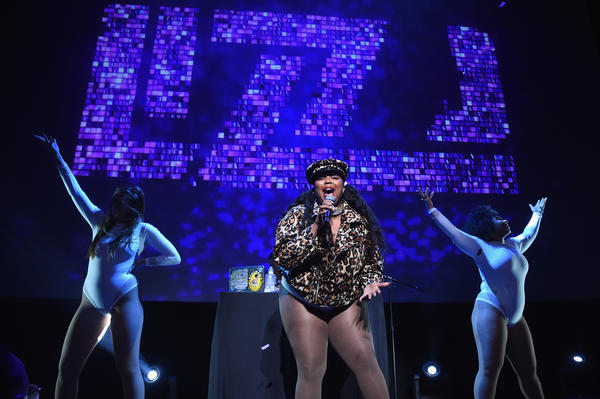 Lizzo onstage in New York in May 2018.
