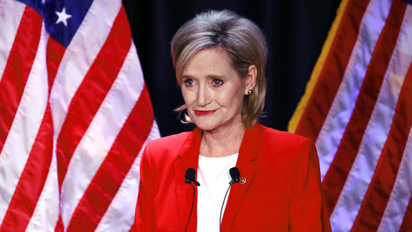 Sen. Cindy Hyde-Smith, R-Miss., seen at a debate with Democrat Mike Espy, prevailed and has to run again in 2020 for a full term.